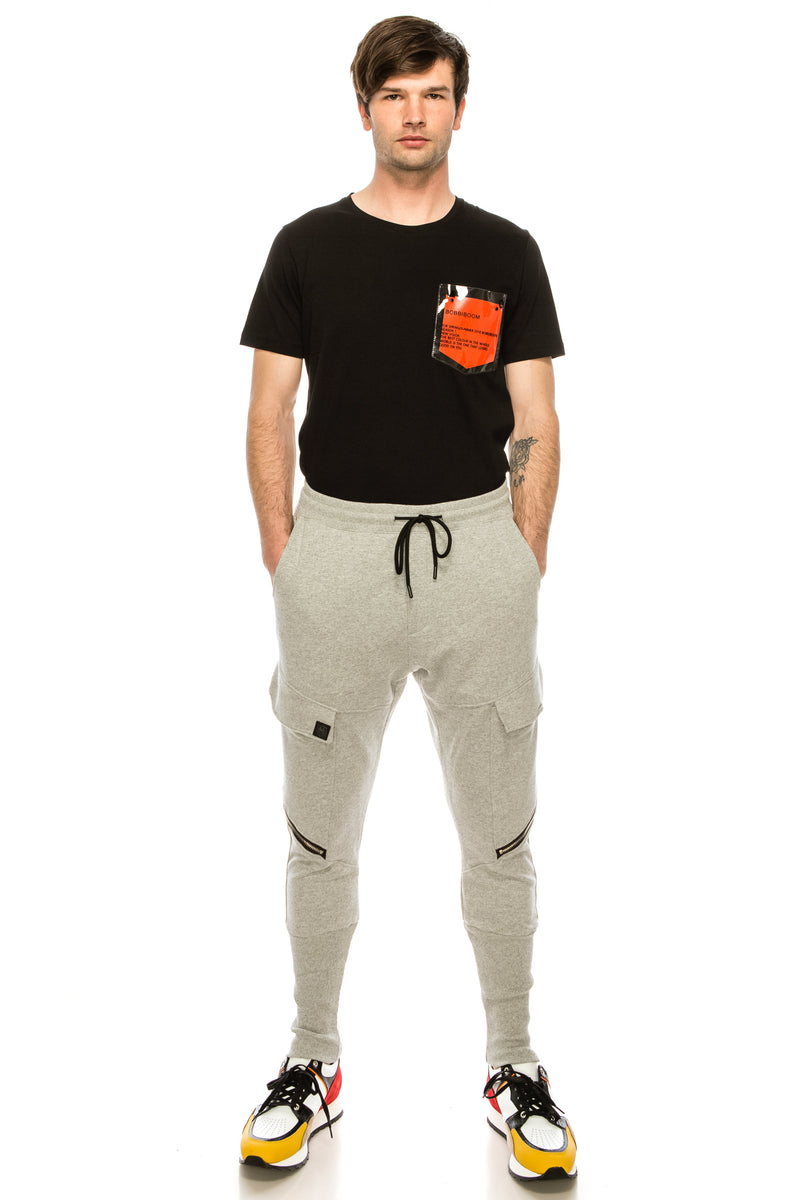 RT Sport Zippered Joggers - Grey - Ron Tomson ?id=15891467927637