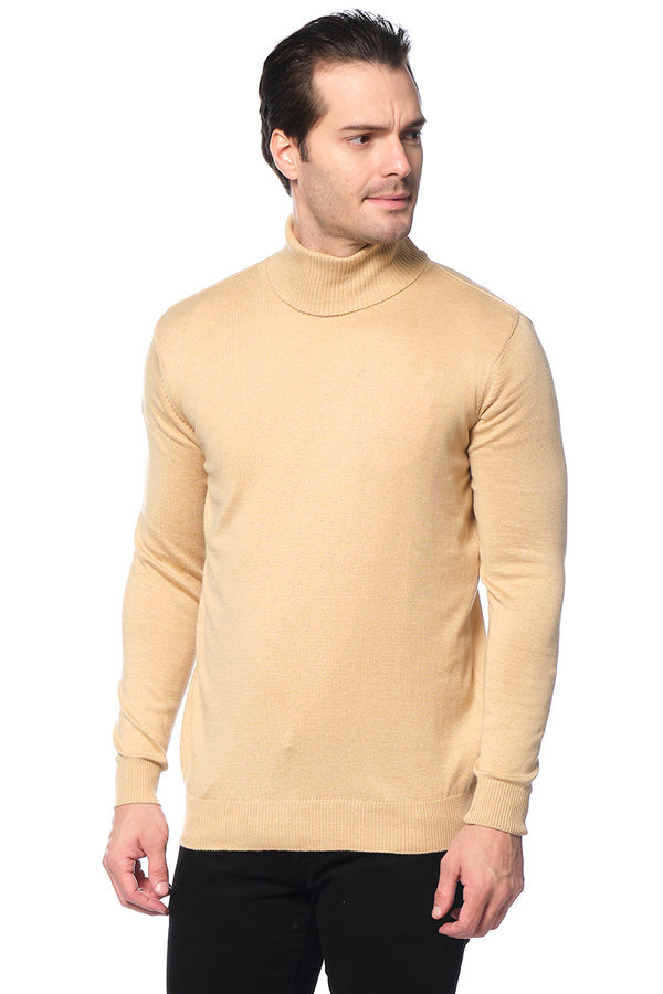 ROLLNECK SWEATER CAMEL - Ron Tomson ?id=15811445588053