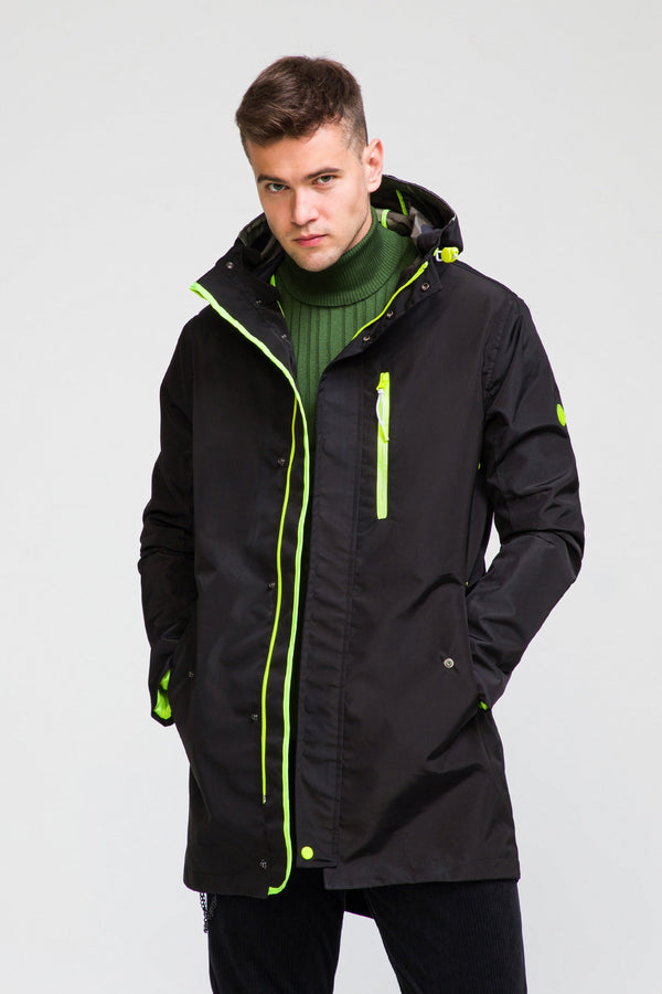 STOCKHOLM RAINCOAT II - BLACK neon - Ron Tomson ?id=27929953271893