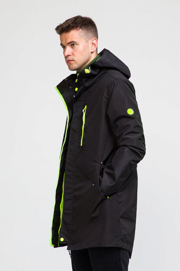 STOCKHOLM RAINCOAT II - BLACK neon - Ron Tomson ?id=27929953435733