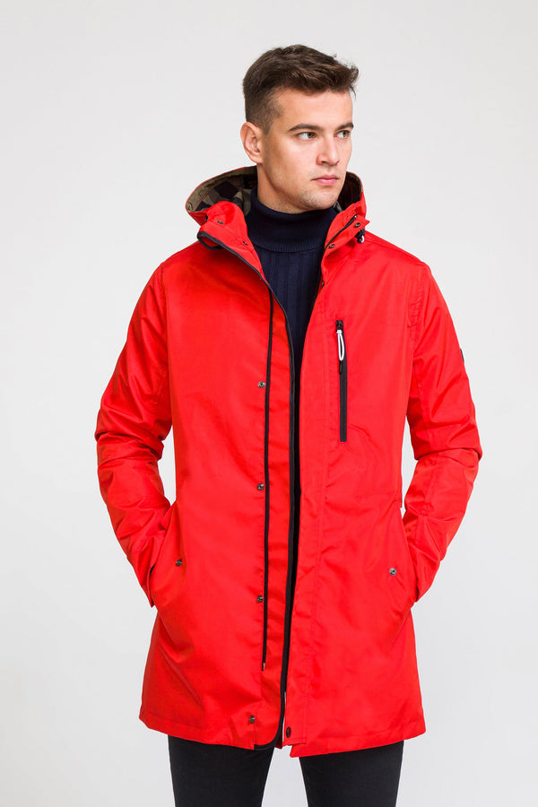 STOCKHOLM RAINCOAT II - RED Valentine