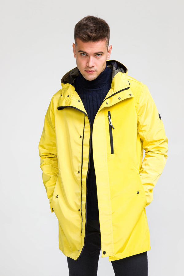 STOCKHOLM RAINCOAT II - ECRU YELLOW - Ron Tomson ?id=27929950453845