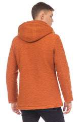 Grunge Hood Boucle Coat Quilted - TILE - Ron Tomson
