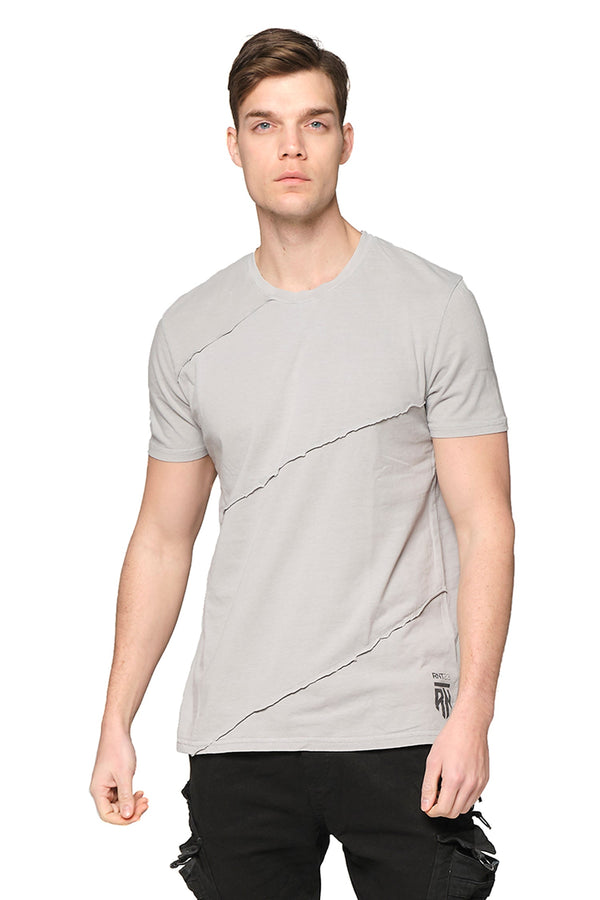Scarred Cotton Tee - GREY - Ron Tomson ?id=27943909785685