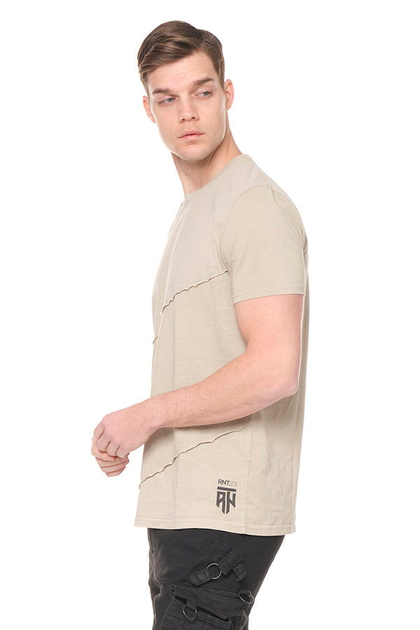 Scarred Cotton Tee  - Sage Green - Ron Tomson ?id=27943909458005