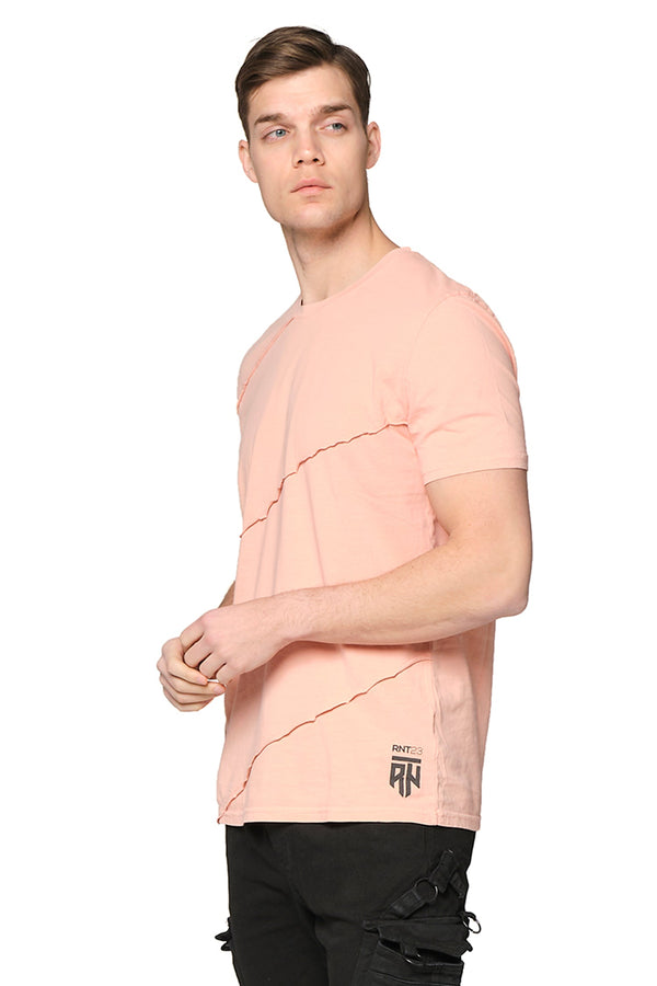 Scarred Cotton Tee - PINK - Ron Tomson ?id=27943909261397