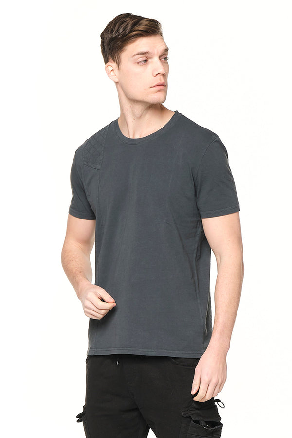 Viking Single Shoulder Quilted Tee - ANTHRACITE - Ron Tomson ?id=27943908442197