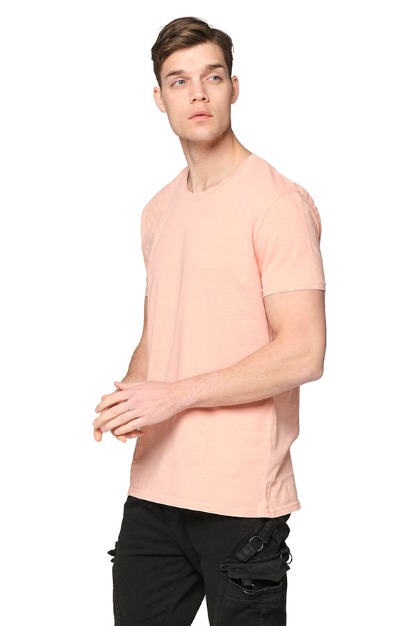 Viking Single Shoulder Quilted Tee -PINK - Ron Tomson ?id=27943907393621