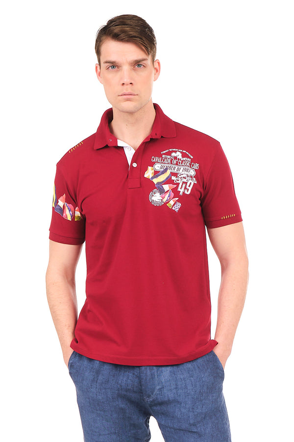 8129-BORDEAUX POLO SHIRT