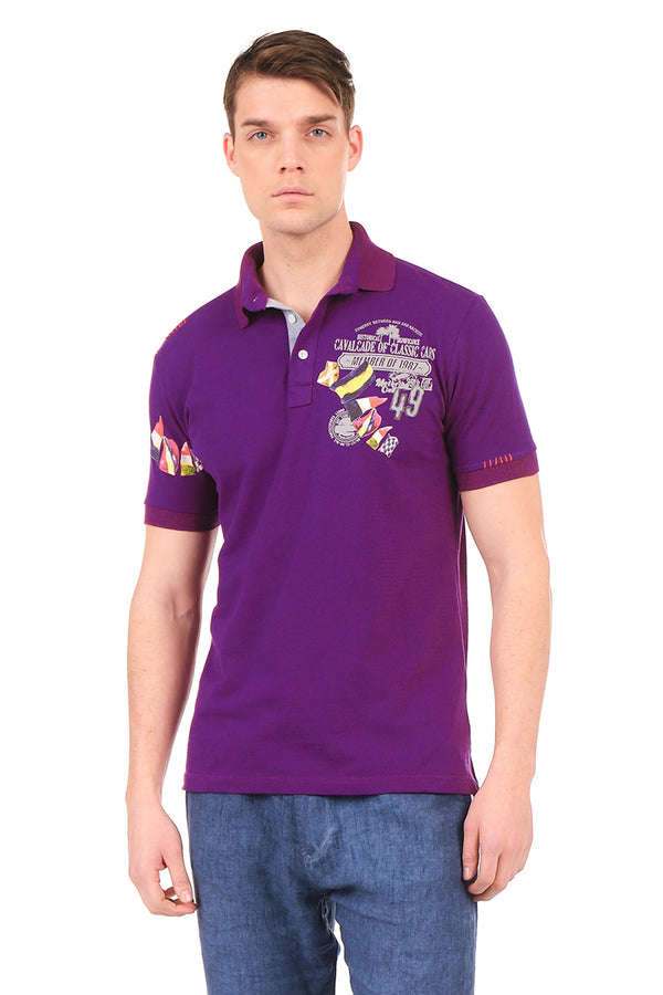 8129-PURPLE POLO SHIRT