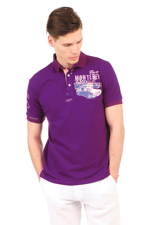 8130-PURPLE POLO SHIRT