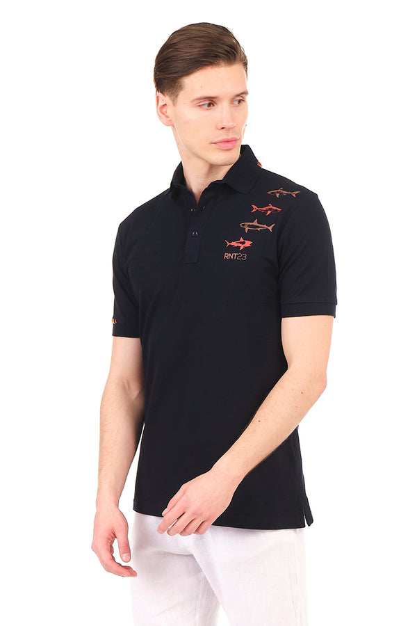 8132-NAVY POLO SHIRT