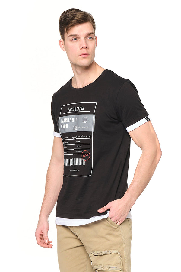 The Barcode Tee - BLACK - Ron Tomson ?id=27943897563221