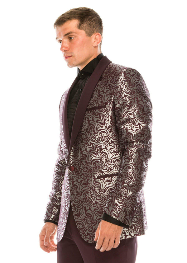 Abstract Floral Tuxedo - Burgundy - Ron Tomson ?id=14979051225173