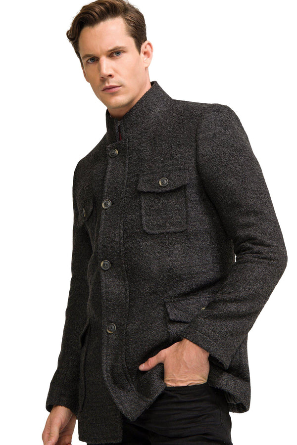 Boucle Field Coat - Anthracite - Ron Tomson ?id=13861418696789