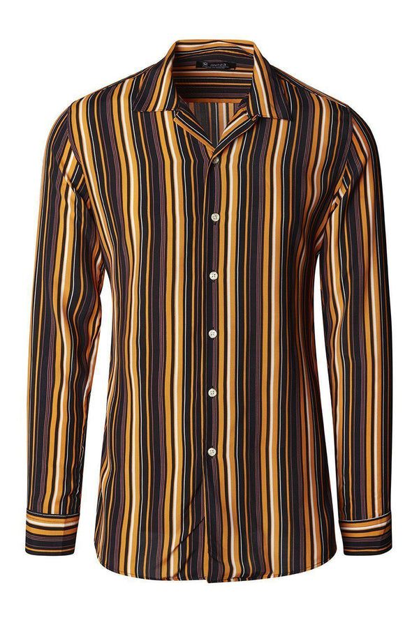 Brown Striped Shirt - Ron Tomson ?id=15099603681365