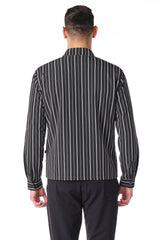City Zip Shell Jacket - Striped - Ron Tomson