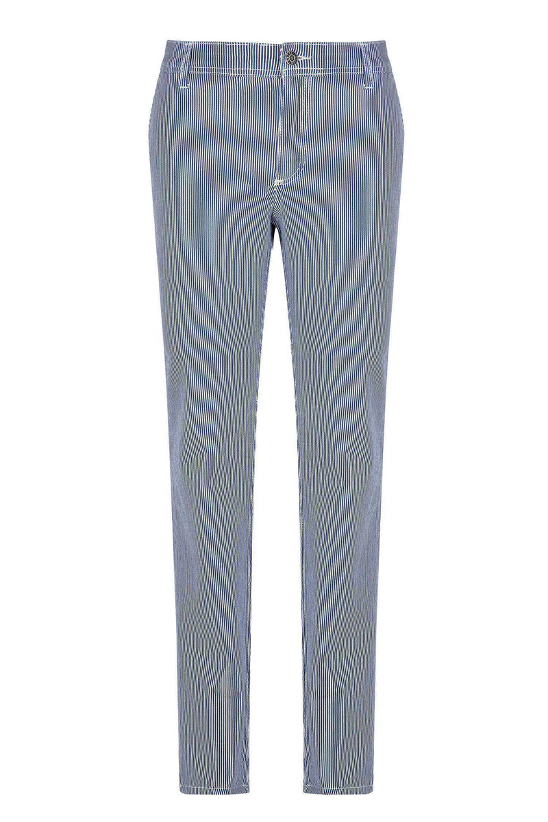 Cotton Pants - Navy - Ron Tomson