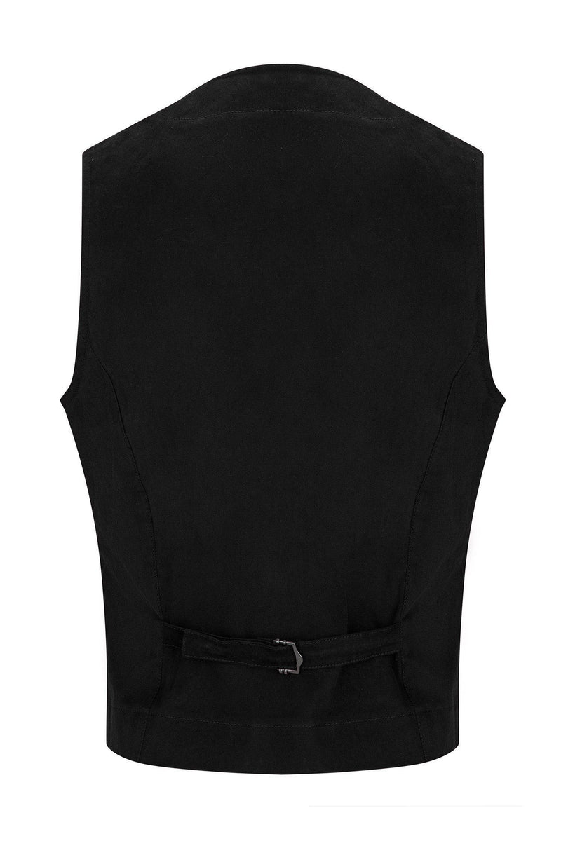 Cotton Vest - Black - Ron Tomson