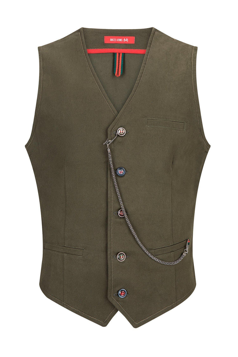 Cotton Vest - Green - Ron Tomson ?id=13860676206677