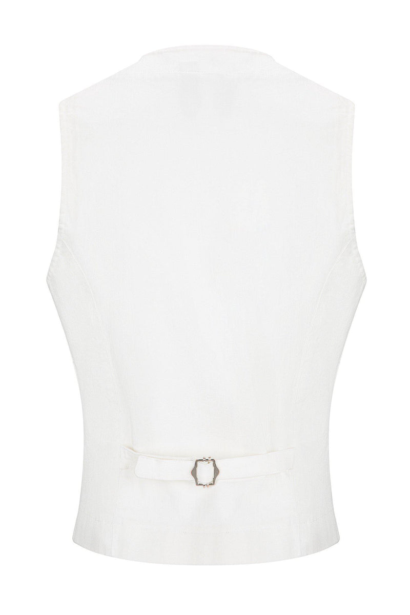 Cotton Vest - White - Ron Tomson ?id=13860677648469