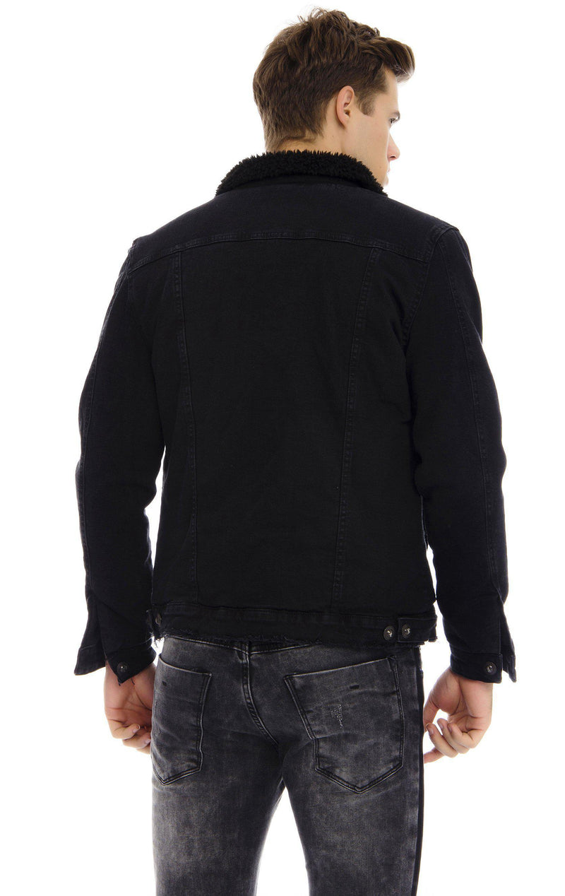 Faux Shearling Lining jacket - BLACK - Ron Tomson ?id=13858067808341