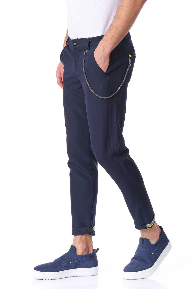 French Quarter Casual Trouser  - Navy - Ron Tomson
