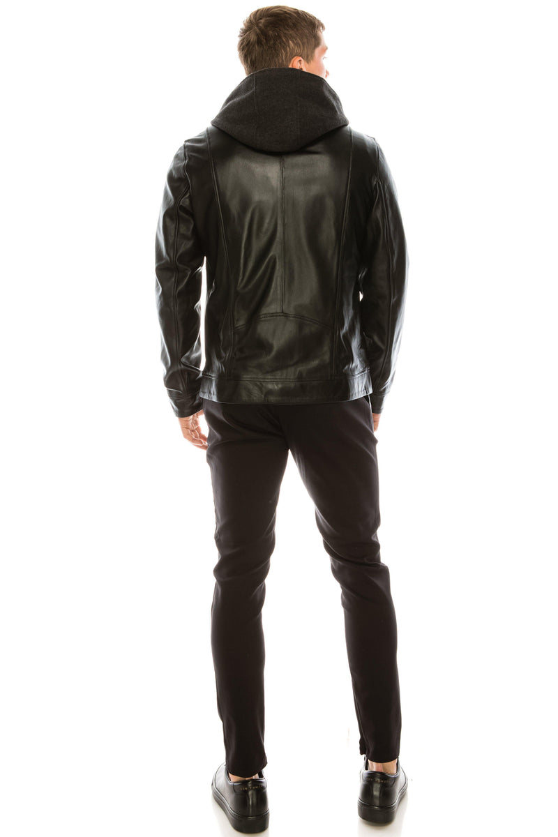 Leather Jacket - Black - Ron Tomson