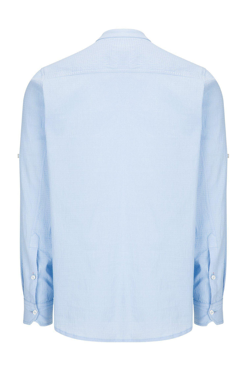 Lightweight Popover Shirt - BLUE - Ron Tomson