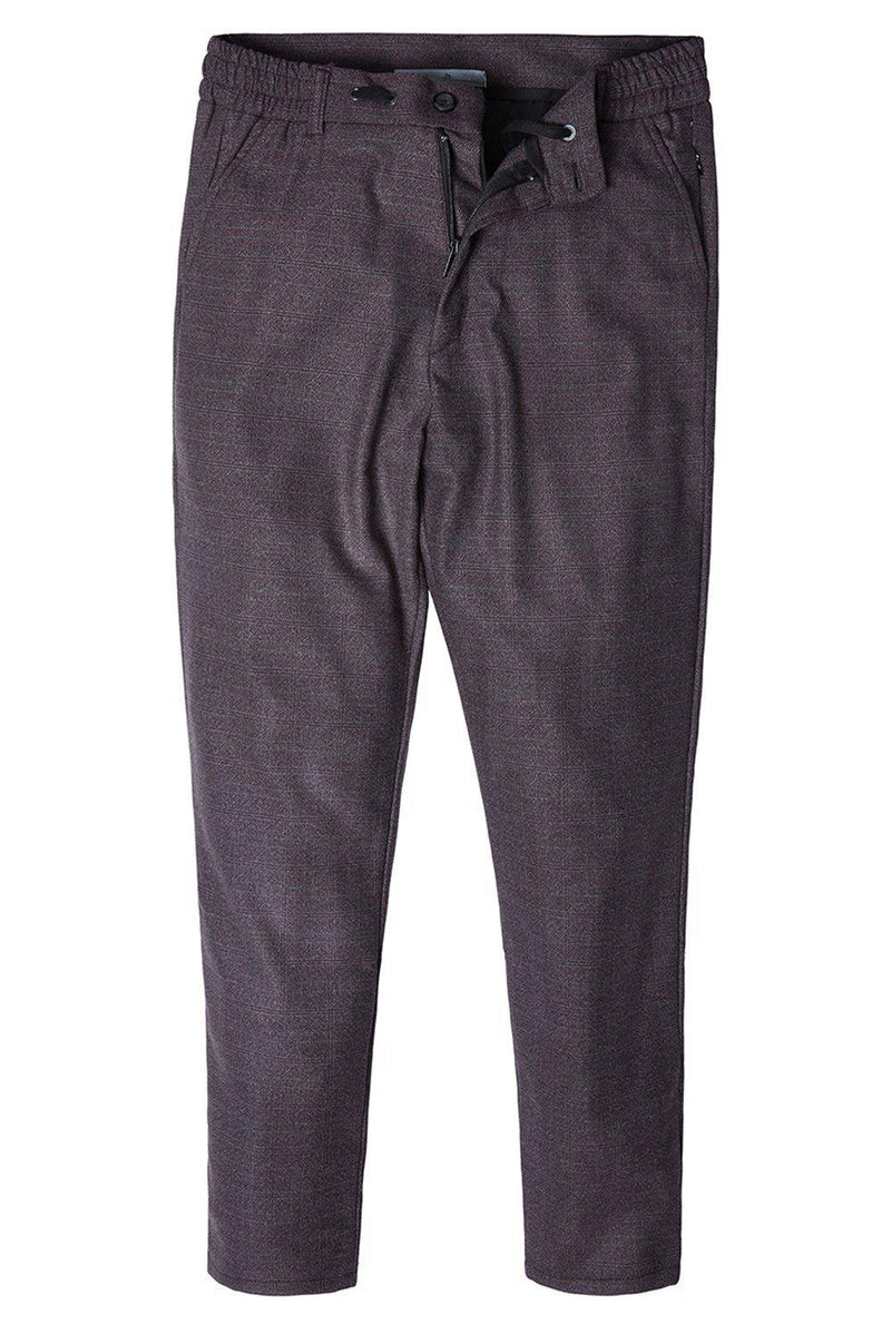 Marled Commuter Trouser - BURGUNDY - Ron Tomson ?id=14169108611157