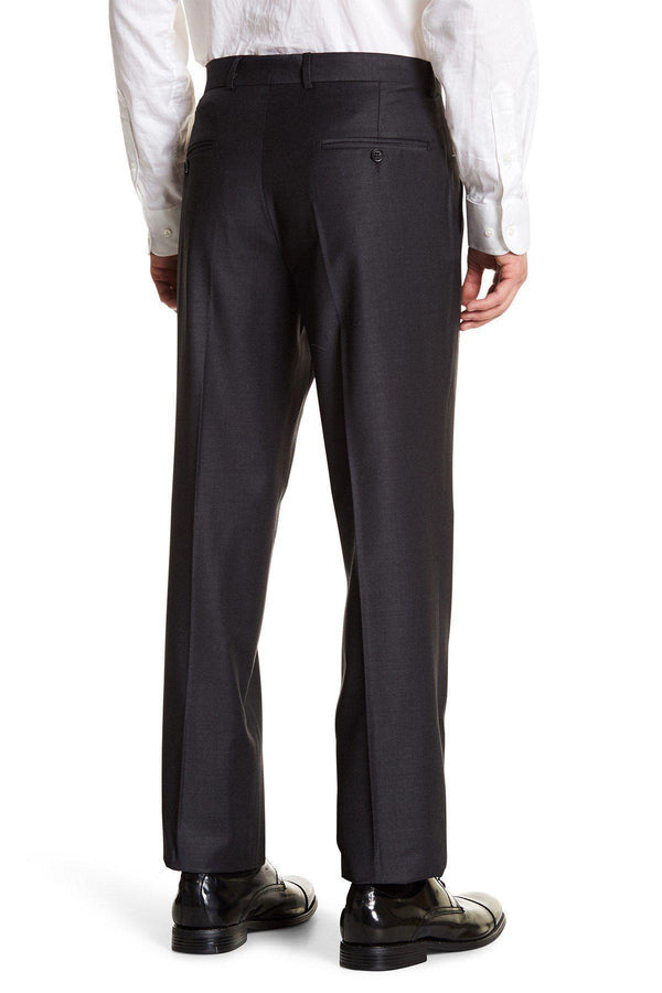 Merino Wool Dress Pants - Charcoal - Ron Tomson