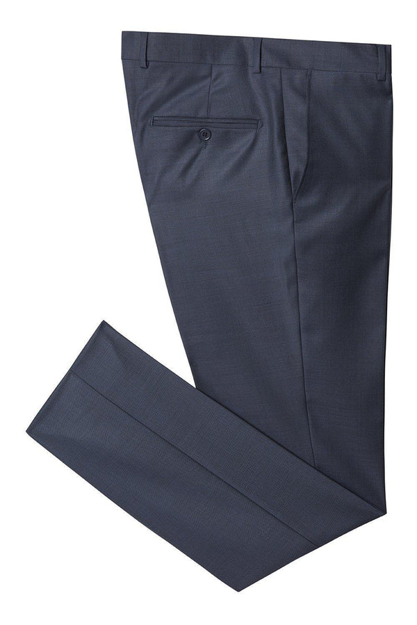 Merino Wool Tapered Dress Pants - Navy Purple - Ron Tomson ?id=14482544427093