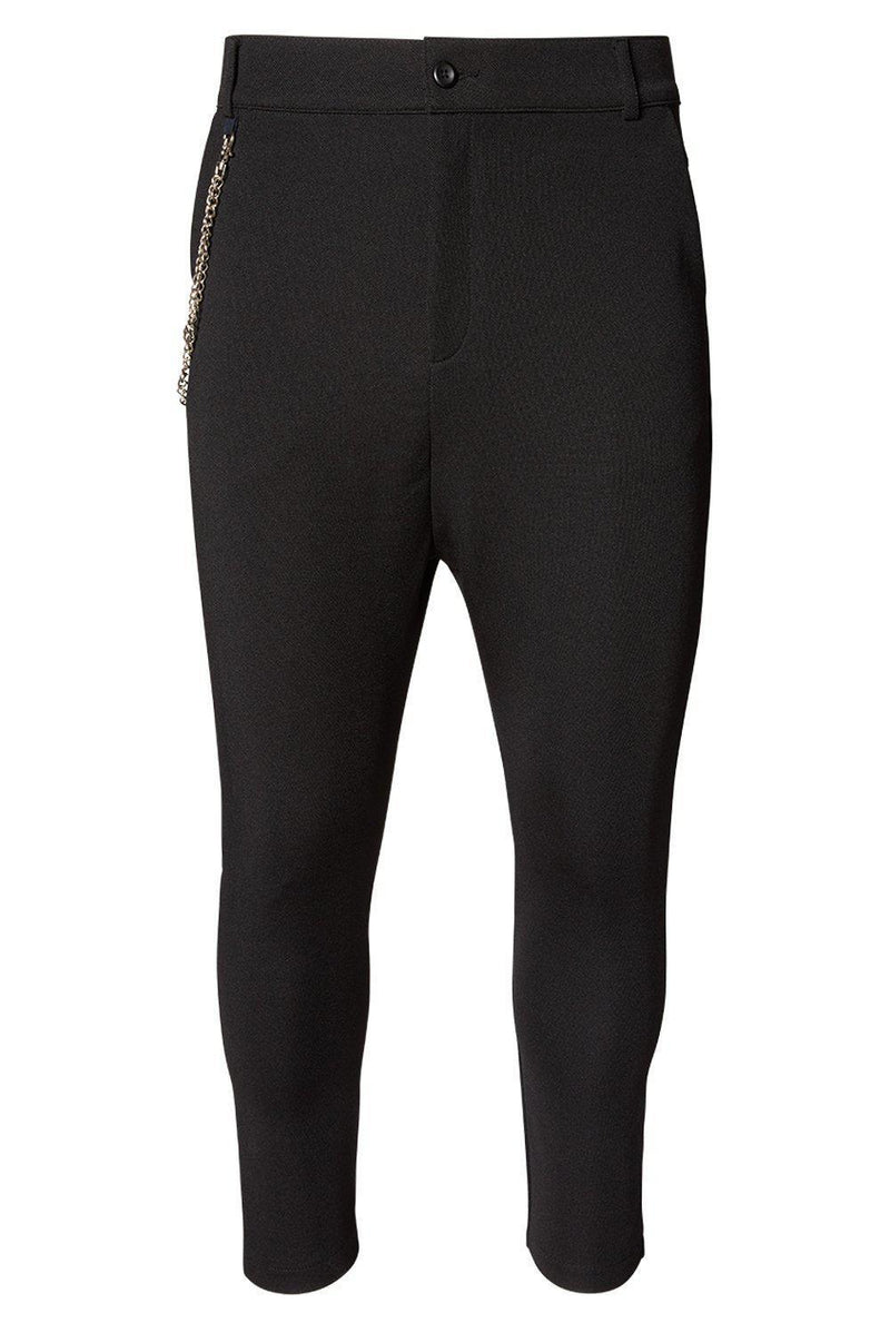 Mid Weight Chain Detail Trouser - Black - Ron Tomson ?id=13861256036437