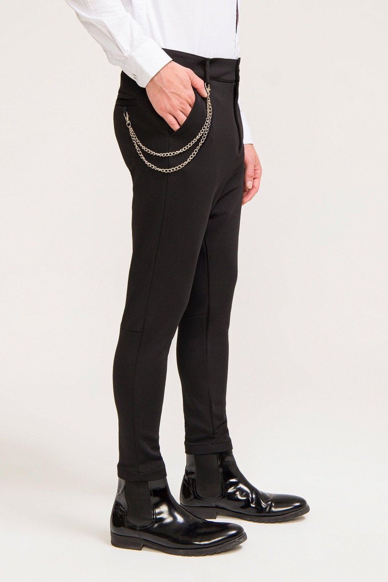 Mid Weight Chain Detail Trouser - Black - Ron Tomson ?id=13861256855637