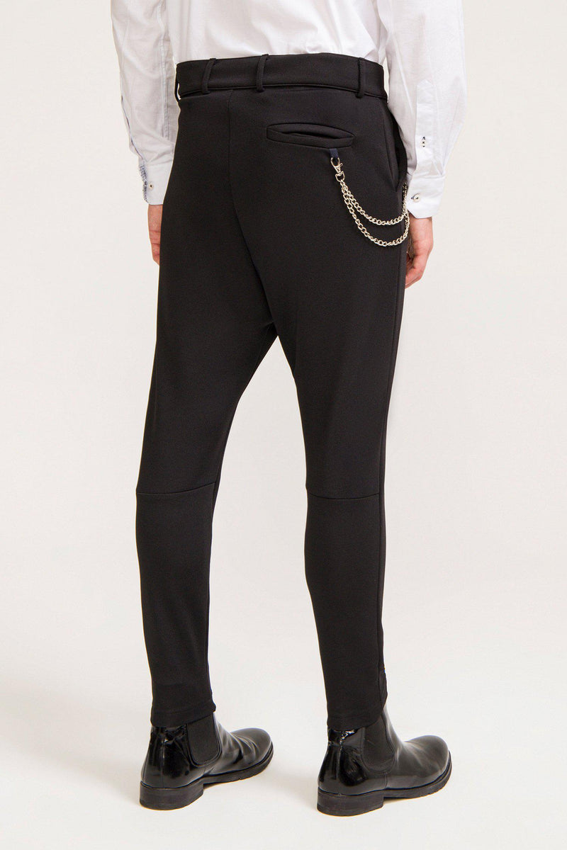 Mid Weight Chain Detail Trouser - Black - Ron Tomson ?id=13861258002517