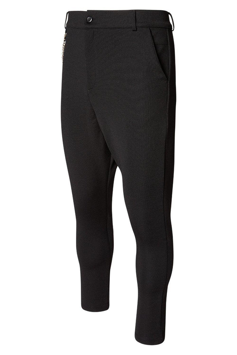 Mid Weight Chain Detail Trouser - Black - Ron Tomson ?id=13861255774293