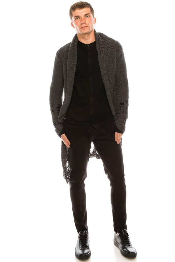 Mr Grunge Cardigan  - Anthracite - Ron Tomson ?id=15019434934357