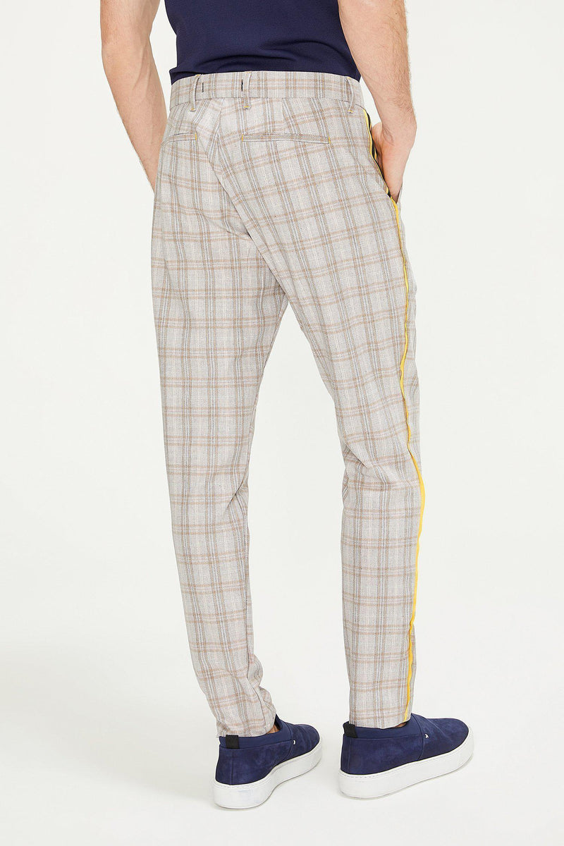 Patterned Slim Fit Casual Trouser - PINK - Ron Tomson ?id=13860882251861