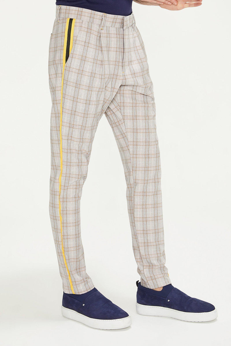 Patterned Slim Fit Casual Trouser - PINK - Ron Tomson ?id=13860881301589