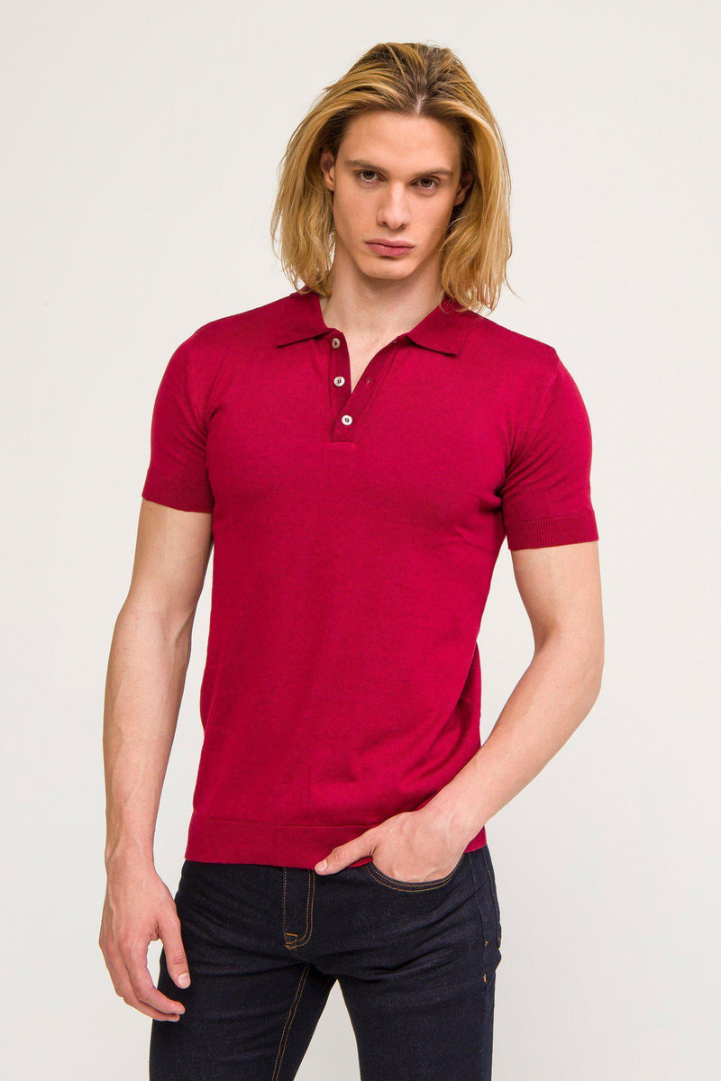 Polo Shirt- Wine - Ron Tomson ?id=13860729356373