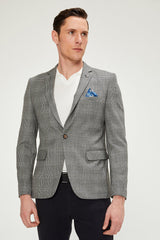 Prince of Wales Grey Black Blazer - Ron Tomson