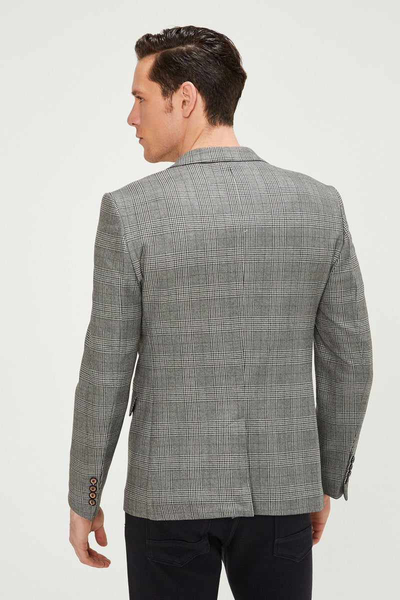 Prince of Wales Grey Black Blazer - Ron Tomson ?id=13860349050965