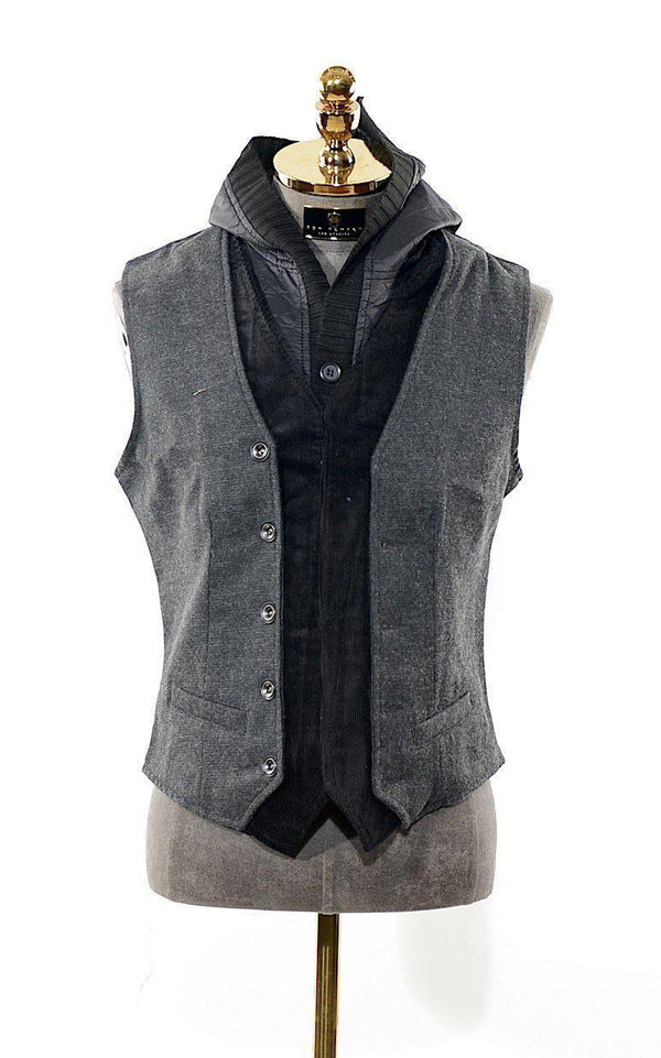 Removable Hoodie Layered Vest - Ron Tomson