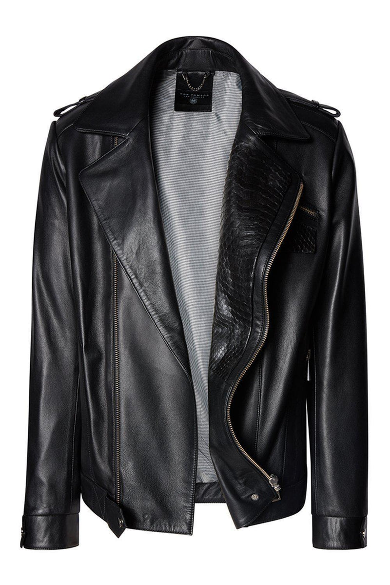 Riders Jacket - Black Calf - Ron Tomson