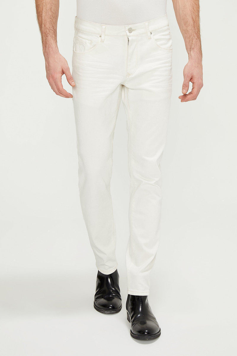 RT Tapered Jeans - White - Ron Tomson
