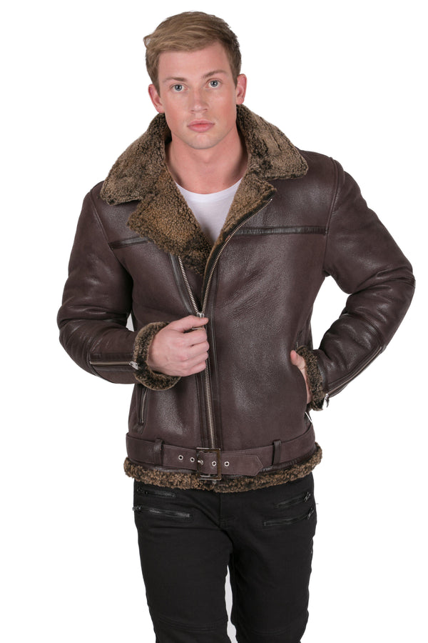 Shearling Moto Jacket - Ron Tomson