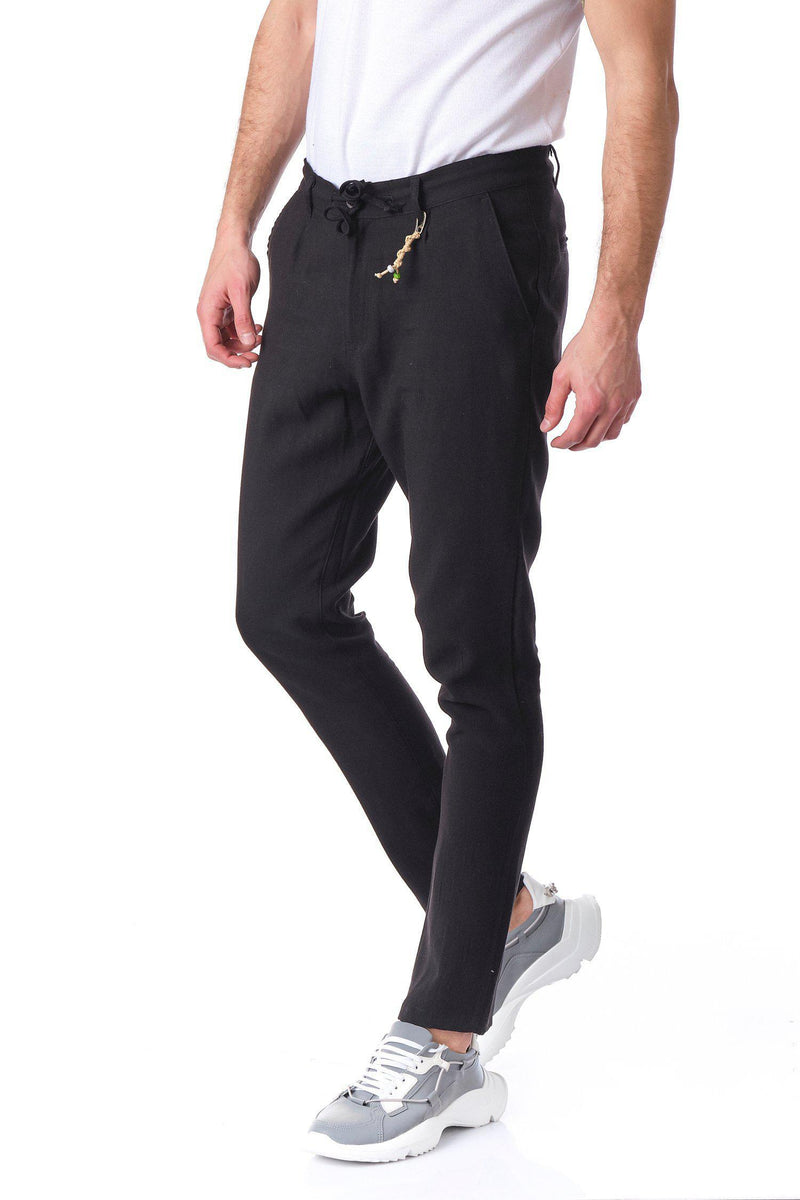 Solermo Lightweight Drawstring Trouser - Black - Ron Tomson ?id=14463822430293