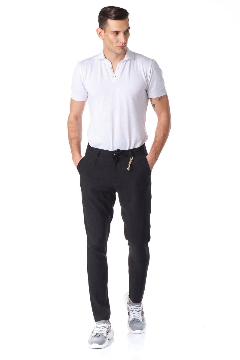 Solermo Lightweight Drawstring Trouser - Black - Ron Tomson ?id=14463822921813