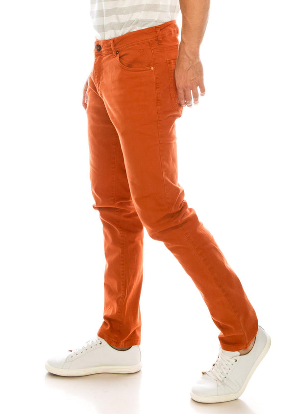 Spring Tapered Denim - Orange - Ron Tomson