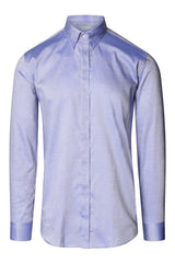 Tie-bar Hidden Placket Shirt- Blue - Ron Tomson